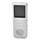 "Thchi YMX-R43 1.44"" Screen Digital Voice Recorder / MP3 Player - Silver White (8 GB)"