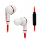 MAIBOSI MA-513 Fashion Universal In-Ear Earphones w/ Microphone - Red + White + Black (3.5mm Plug)