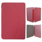 Protective PU Leather Case Cover Stand for Colorfly Transforming Momo1 Q708 Q1 /  Q708 Q2 - Red