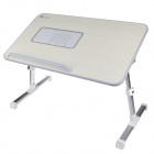 XGear 2012 Version A8 Portable USB Powered Ergonomic Laptop Desk w / Cooling Fan  - Off-white + Grey