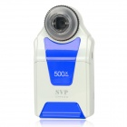 "DM54D 2.7"" LCD 5.0 MP CMOS Handheld Digital Camera w/ 500X Magnifier Microscope - White + Blue"
