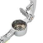 Professional Stainless Steel Garlic Press - Silver