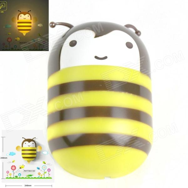 Bee Decoración de ahorro de energía 2W Luz 200lm LED Sensing Lámpara de pared - amarillo + Brown (CA 220V)
