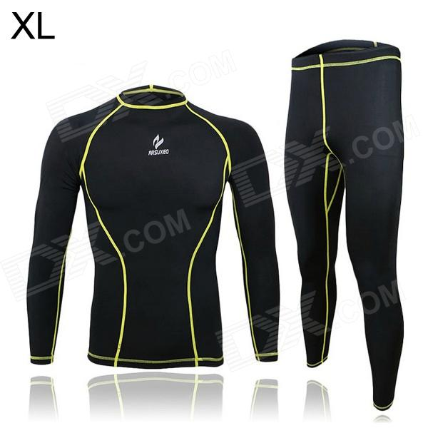 ARSUXEO ARC09-1 Outdoor Cycling Elastic Polyester Long-Sleeve Shirt + Pants (Size XL)