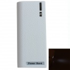 "Portable ""5600mAh"" Mobile Power Source Bank w/ 1-LED Flashlight for IPHONE / HTC / Samsung - White"