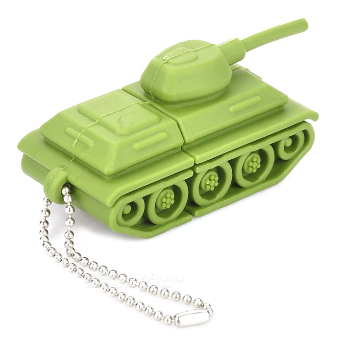 Tank Style USB 2.0 Flash Drive Disk - Green (4GB) skull style usb 2 0 flash drive disk khaki red 4gb