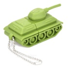 Tank Style USB 2.0 Flash Drive Disk - Green (4GB)