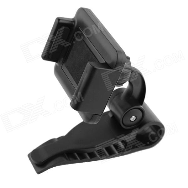 Automotive Sunvisors Clip Holder for GPS, Mobile Phone - Black - DXGPS Holders<br>Automotive sunvisors GPS phone support fixed way: car visor. Clip general scale the clamp support range 5.5 9 cm. The back after the clamp is not easy to slide...<br>