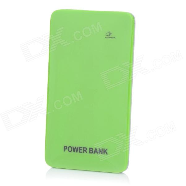 BP Ultra-thin 5000mAh Touch Switch Mobile Power Source for IPHONE / Samsung / HTC - Green + Silver bp 15000mah dual usb mobile power source bank for iphone 5s samsung htc white green