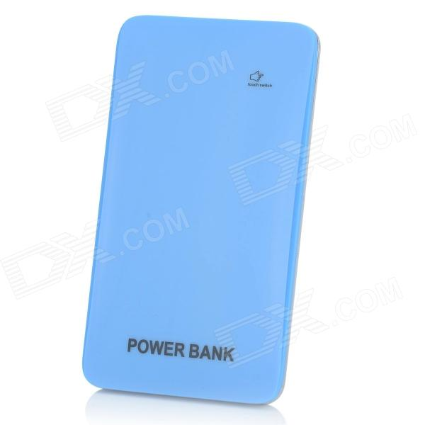 BP Ultra-thin 5000mAh Touch Switch Mobile Power Source for IPHONE / Samsung / HTC - Blue + Silver htc u ultra sapphire blue 64gb