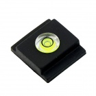 High Precision Universal Hot Shoe Bubble Spirit Level for Cameras - Black + Transparent