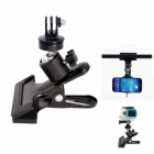 Clamp Mount Holder for Flash Lamp / Cell Phone / Camera / DV / GoPro Hero 2 / 3 / 3+ - Black