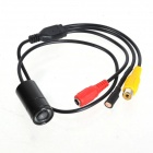 "ZnDiy-BRY MCV8 Waterproof 1.4"" CMOS NTSC / 520TV Lines Mini Video Camera w/ 8-IR-LED - Black"