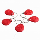 WSX5 Entrance Guard Inductive ID Key Card - Red (5 PCS)