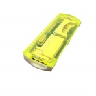USB 2.0 Multi-in-1 SD / MMC / TF / MS / T-Flash Card Reader - Translucent Yellow