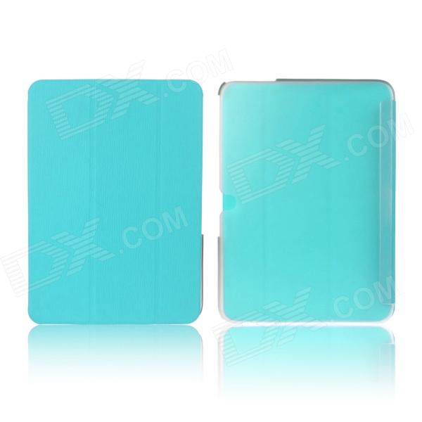 ENKAY ENK-7040 Protective PU Leather Case with Stand for Samsung P5200 - Light Blue