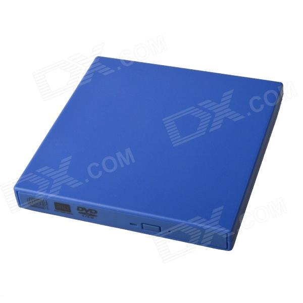 Ultra-Slim Portable USB 2.0 DVD RW External Optical Drive - Blue aya 140 slim portable usb 2 0 dvd rw external optical drive black