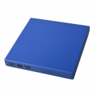 Ultra-Slim Portable USB 2.0 DVD RW External Optical Drive - Blue