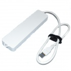 Fscable MP15 Super vitesse 7-Port USB 3.0 Hub w / Power Switch / indicateur pour ordinateur portable - blanc