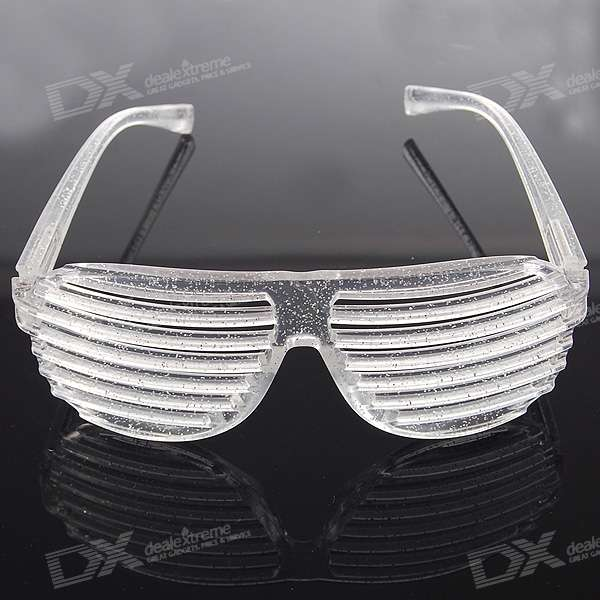 Crystal White PVC Stripe/Shutter Shades