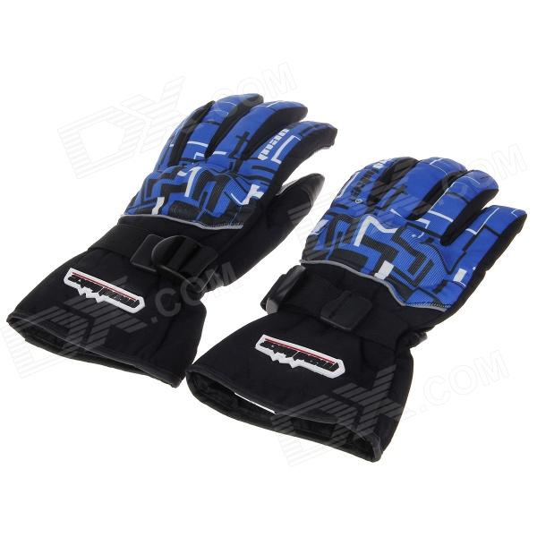 MD-14 Stylish Waterproof Warm Motorcycle Racing Full Finger Protective Gloves -Black (Pair / Size-L) pro biker mcs 04 motorcycle racing half finger protective gloves red black size m pair
