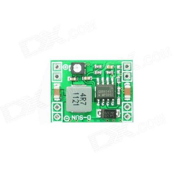 3A DC to DC Voltage Adjustable Step-Down Power Module - GreenPower Module<br>BrandN/AModel4R7 1121Quantity1 DX.PCM.Model.AttributeModel.UnitForm  ColorGreenMaterialABSEnglish Manual / SpecNoPacking List1 x Module<br>