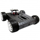 Robotbase RB-13K054 4WD Aluminum Alloy Lightweight Car Set - Black