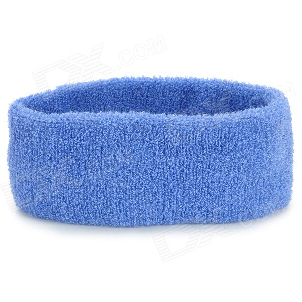 Sports Cotton Sweat Headband - Blue