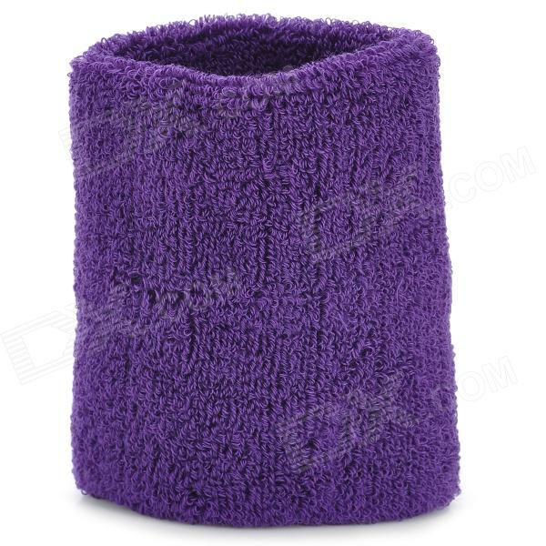 Sport Cotton Wrist Brace Wrap Support - Purple