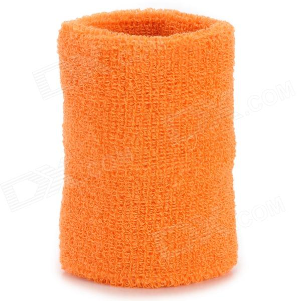 Sport Cotton Wrist Brace Wrap Support - Orange