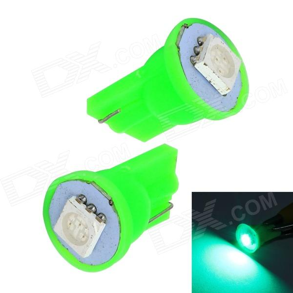 Merdia T10 0.5W 10lm 1 x SMD 5050 LED Green Light Car Tail light - (12V / 2 PCS) merdia t10 0 5w 10lm 1 x smd 5050 led green light car tail light 12v 2 pcs