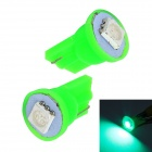 Merdia T10 0.5W 10lm 1 x SMD 5050 LED Green Light Car Tail light - (12V / 2 PCS)