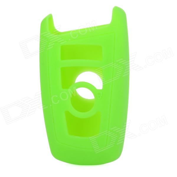 GEL020906 Silicone Car Key Case for BMW X1 / X3 / X5 / X6 / 3 / 5 / 7 Series - Green