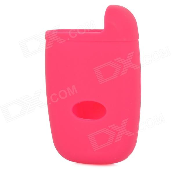 GEL020903 Silicone Car Key Case for Hyundai Rohens / Rohens-Coupe / Equus / Kia - Deep Pink