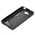 """S"" Style Anti-Slip Protective TPU Back Case for LG Optimus L9 II D605 - Black"