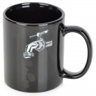 Creative Faucet Pattern Ceramics Coffee Cup - Black (250ml)