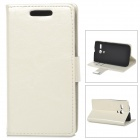 Protective PU Leather + PC Case for MOTO G - White