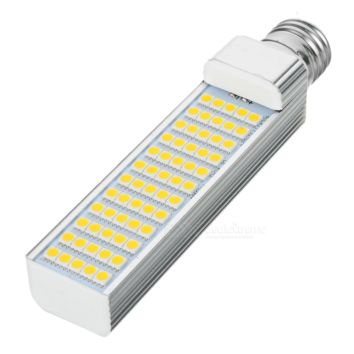 E27 12W 1000lm 3000K 60-5050 SMD LED Lamp - White (AC 85~265V) r7s 15w 5050 smd led white light spotlight project lamp ac 85 265v