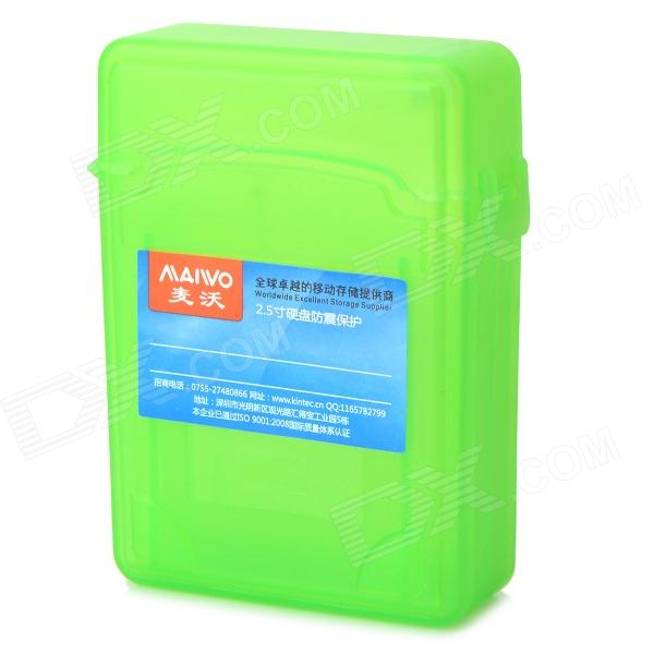 MAIWO KP001 2.5 SATA HDD Protective Shockproof Two Layer Storage Case - Grass Green sata usb 3 0 blue orange hdd case with 250g hard disk heating release rubber case 2 5 fast reading speed case