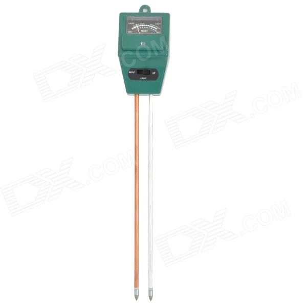 3-in-1 Gardening  Soil Measuring Instrument Moisture Meter PH Meter - Green от DX.com INT