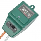 3-in-1 Garden Soil Measuring Instrument Moisture PH Meter - Green