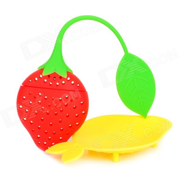 Mini Set Non-toxic Silicone Tea Filter - Red + Yellow + Multi-Colored