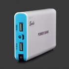 """20000mAh"" External Battery Power Bank w/ USB Woven Cable for Google Nexus 7 / II - Blue + White"