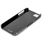TOTALSTAR TS-03-5 Stylish Crocodile Pattern Leather + PC Back Case for IPHONE 5 / 5S - Black