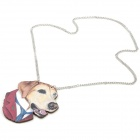 Costume chien pull collier bois - blanc + rouge + multicolores
