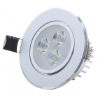HUGEWIN HSD590S 3W 240lm 6500K White 3-LED Ceiling Light - Silver (AC 85~265V)