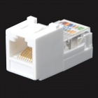 QM-TCL08 CAT-5 RJ45 Connector w/ Wall Socket - White