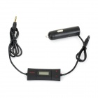 FM-2 Convenient Car Cigarette Lighter Powered Auto Search FM Transmitter - Black