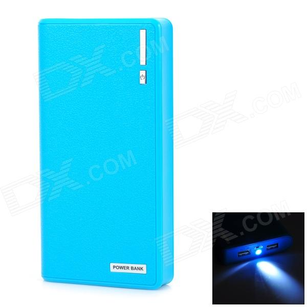 Unversal Dual USB Output 15000mAh Mobile Power Bank for IPHONE / IPAD - Blue + Black la pastel 3 30 30