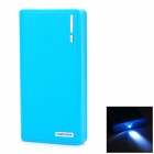 Unversal Dual USB Output 15000mAh Mobile Power Bank for IPHONE / IPAD - Blue + Black